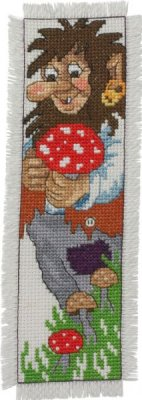 click here to view larger image of Troll Bookmark - Man (counted cross stitch kit)