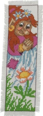 click here to view larger image of Troll Bookmark - Woman (counted cross stitch kit)