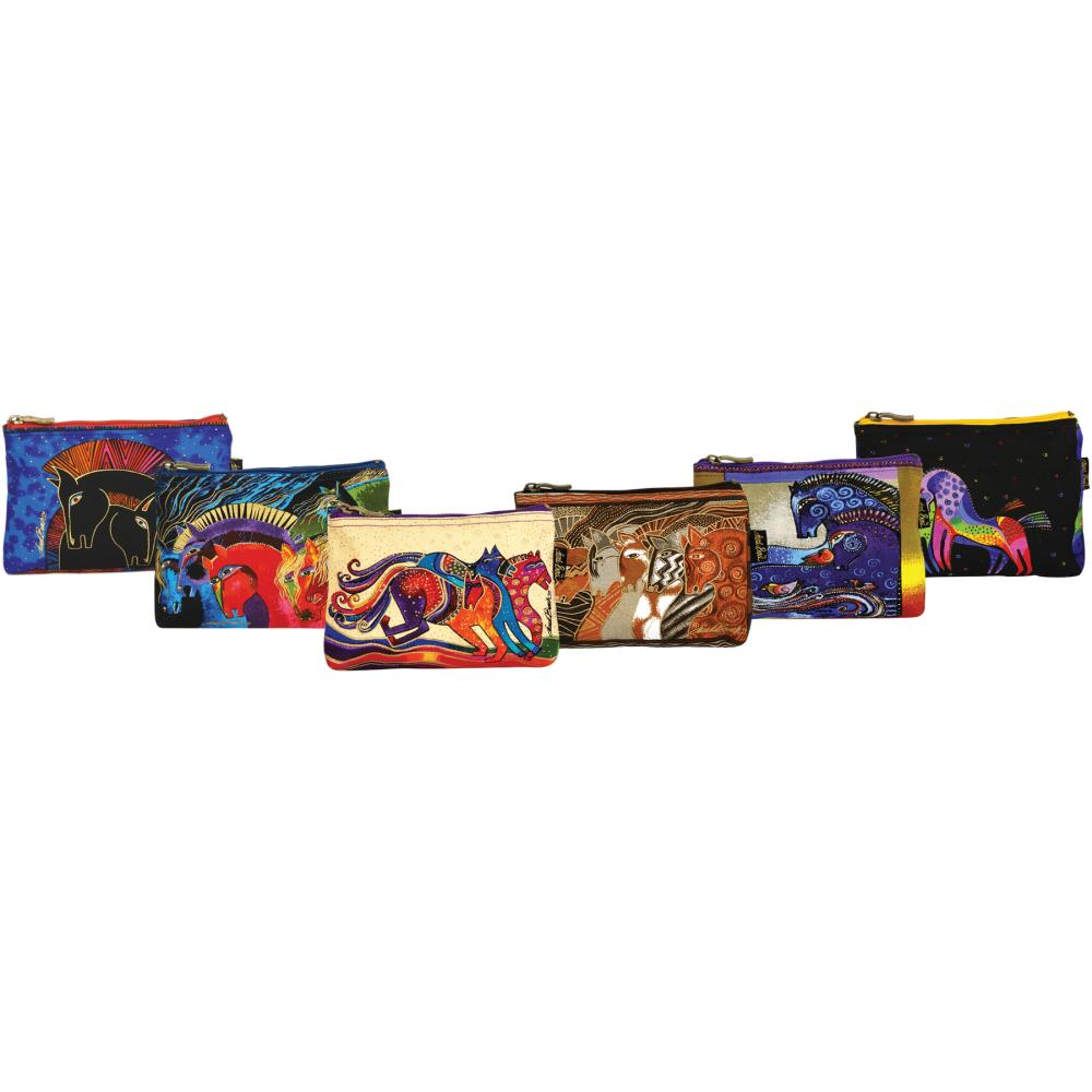 click here to view larger image of Horse Designs  - Cosmetic Bag Zipper Top (accessory)