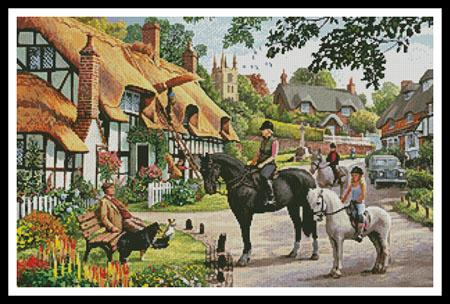 click here to view larger image of Horse Riders in the Village  (Steve Crisp) (chart)