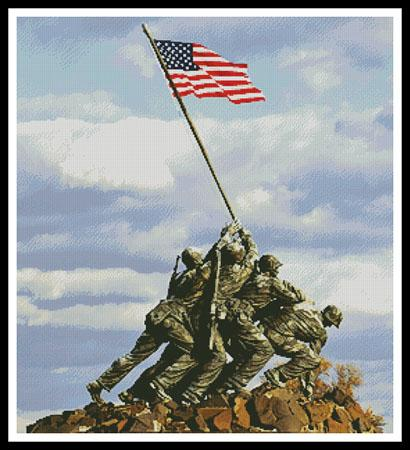 click here to view larger image of Iwo Jima Memorial (chart)