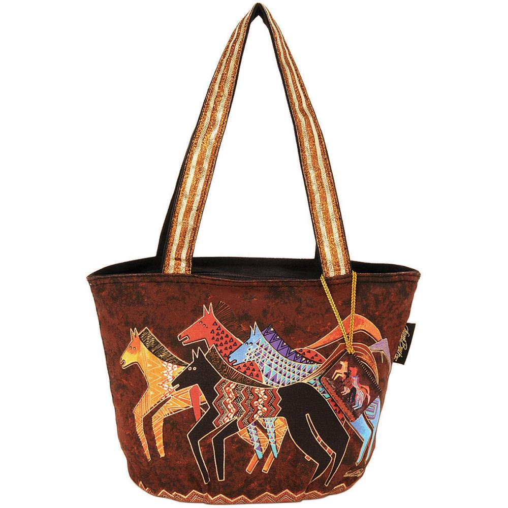 click here to view larger image of Native Horses - Medium Tote Zipper Top (accessory)