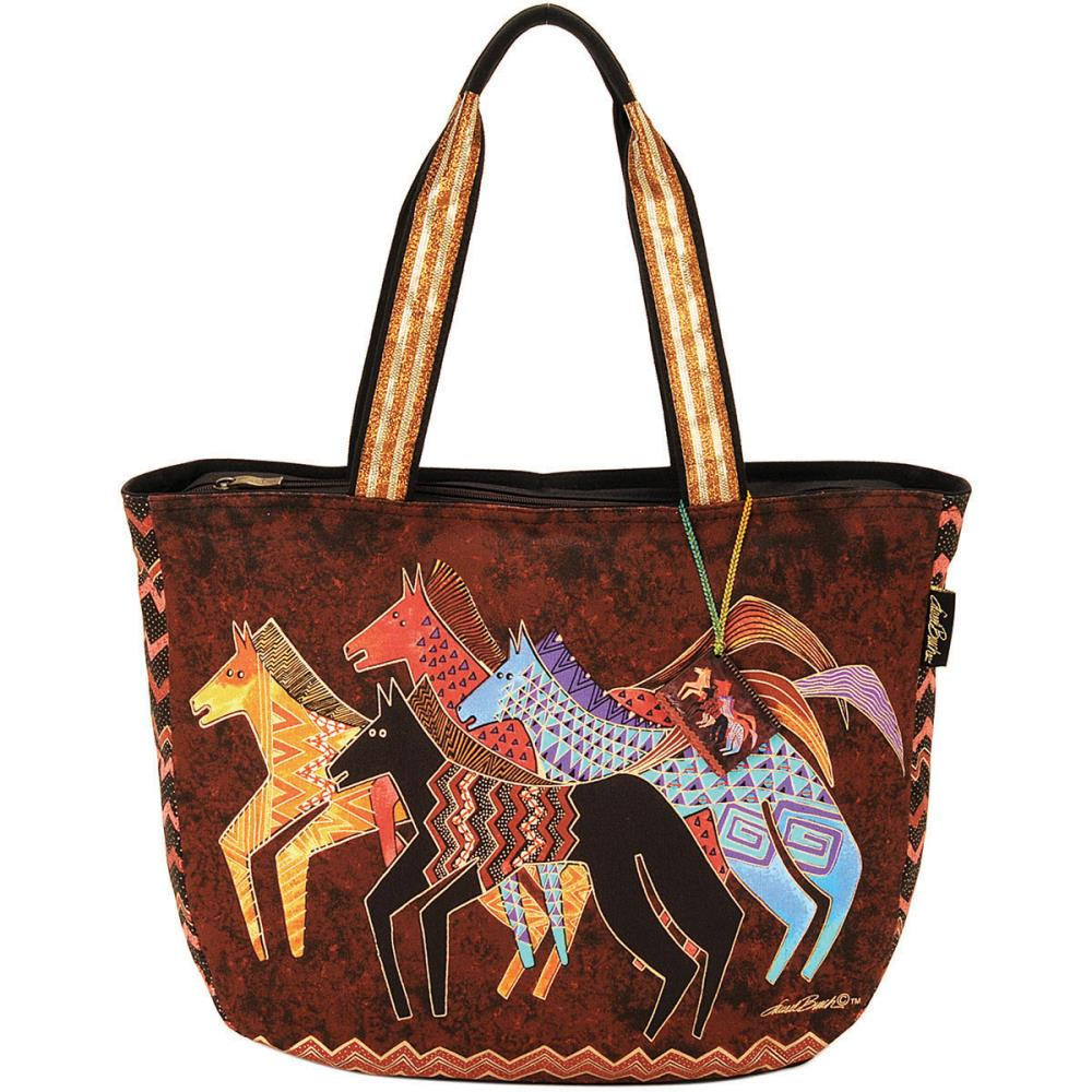 click here to view larger image of Native Horses - Shoulder Tote Zipper Top (accessory)