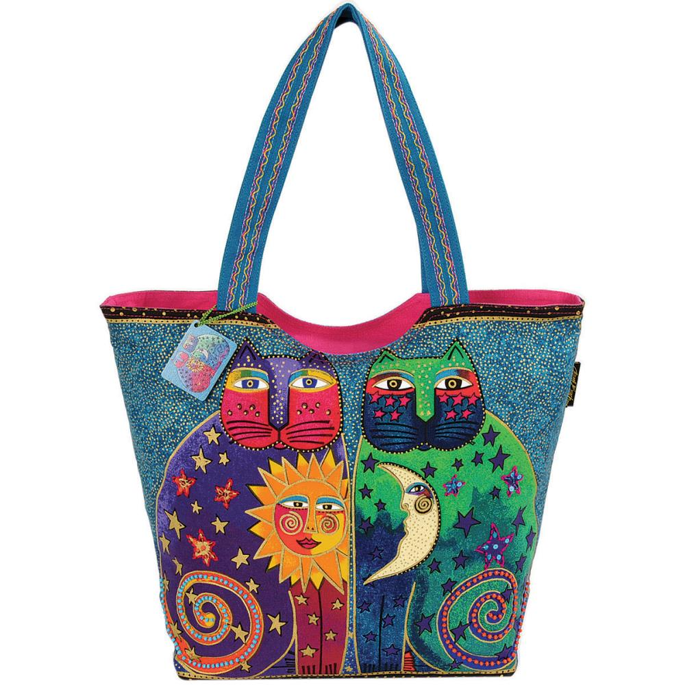 click here to view larger image of Celestial Felines - Scoop Tote Zipper Top (accessory)