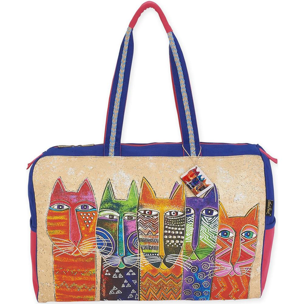 click here to view larger image of Long Neck Cats - Travel Bag (accessory)