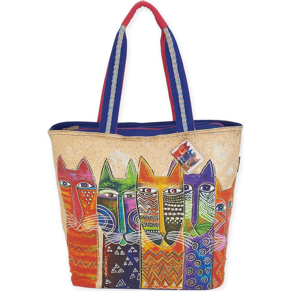 click here to view larger image of Long Neck Cats - Shoulder Tote (accessory)