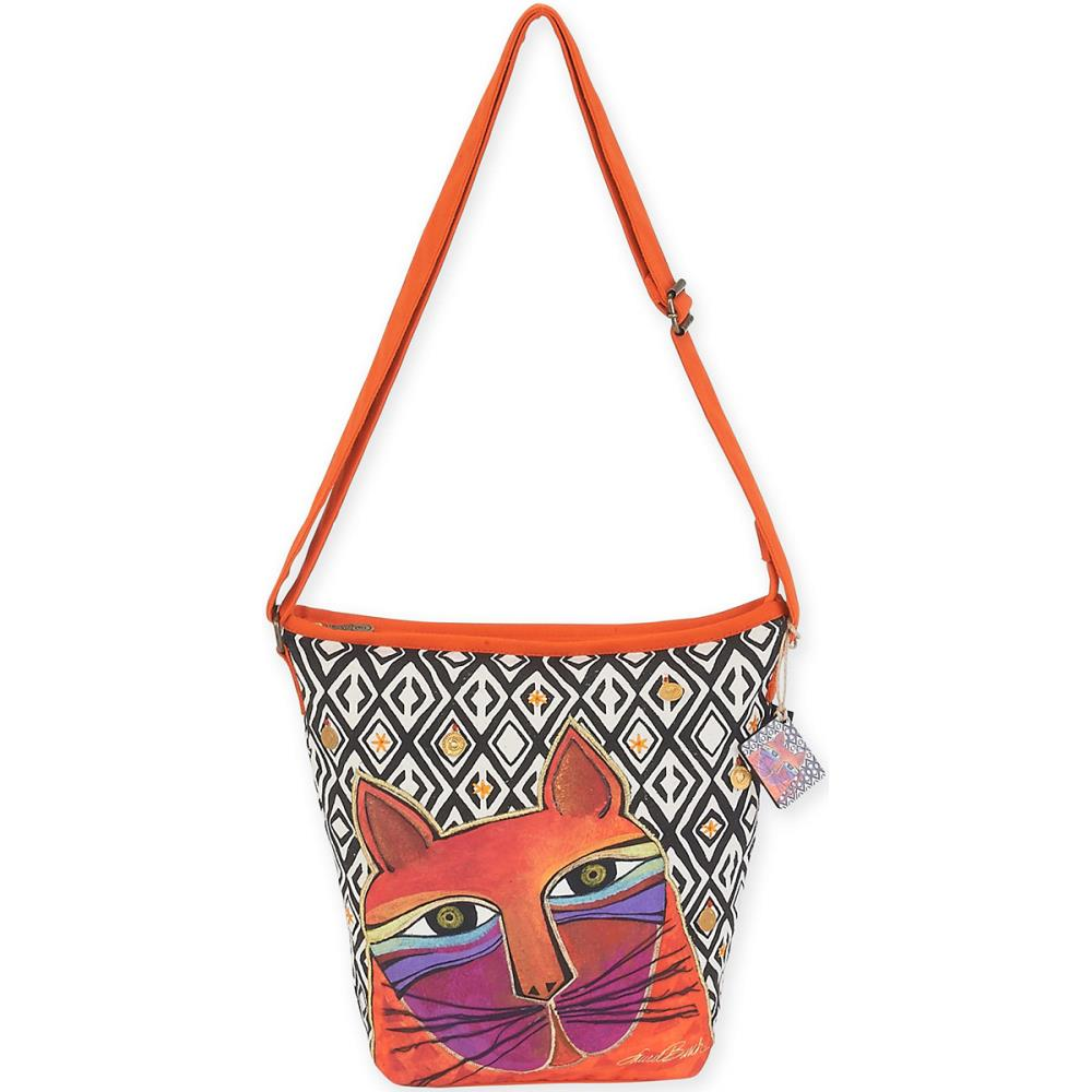 click here to view larger image of Whiskered Cats - Orange - Crossbody Bag (accessory)