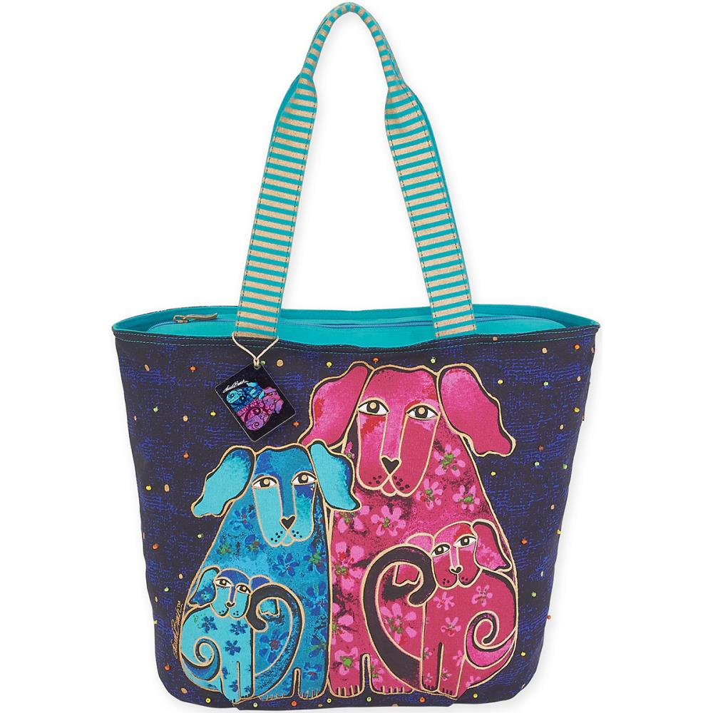 click here to view larger image of Blossoming Pups - Shoulder Tote (accessory)