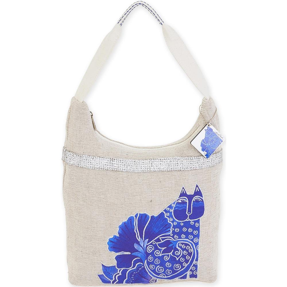 click here to view larger image of Blossoming Felines - Medium Scoop Tote (accessory)