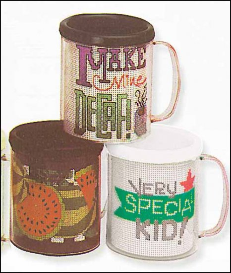 click here to view larger image of White Snap-A-Part Mug With Vinyl (stitchable)