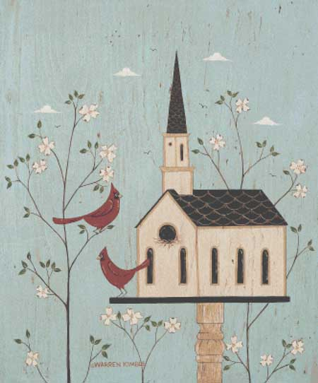 click here to view larger image of Church Birdhouse - Warren Kimble (chart)
