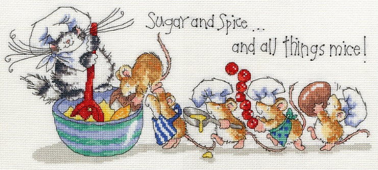 click here to view larger image of Sugar and Spice (counted cross stitch kit)