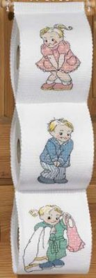 click here to view larger image of Toilet Paper Holder (counted cross stitch kit)