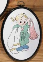 click here to view larger image of Bath Time Girl (counted cross stitch kit)