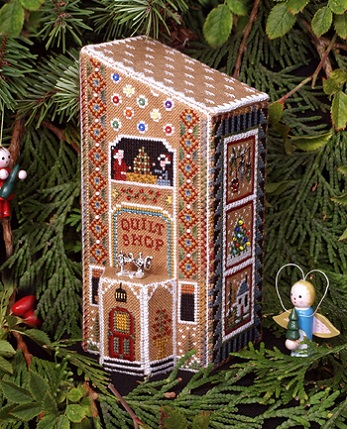 click here to view larger image of Gingerbread Quilt Shop - Gingerbread Village Part 8 (chart)