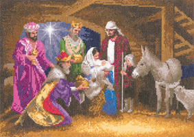 click here to view larger image of Nativity Scene - John Clayton Collection (27ct) (counted cross stitch kit)