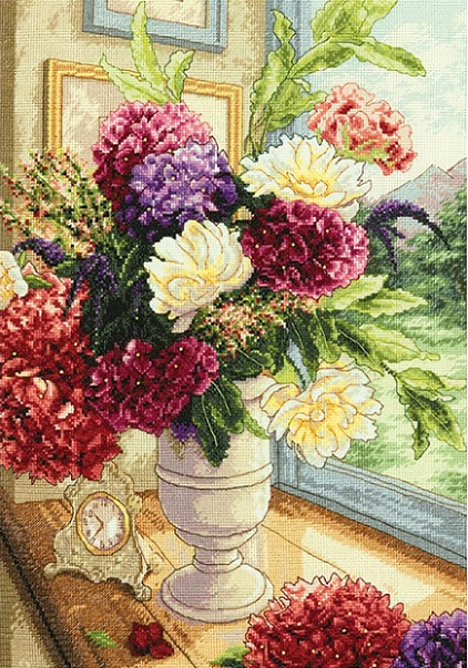 click here to view larger image of Summer Bouquet (counted cross stitch kit)