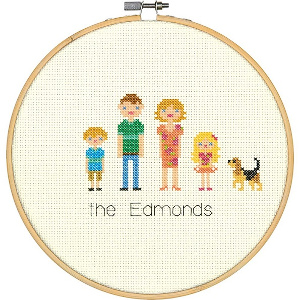 click here to view larger image of All In The Family (counted cross stitch kit)