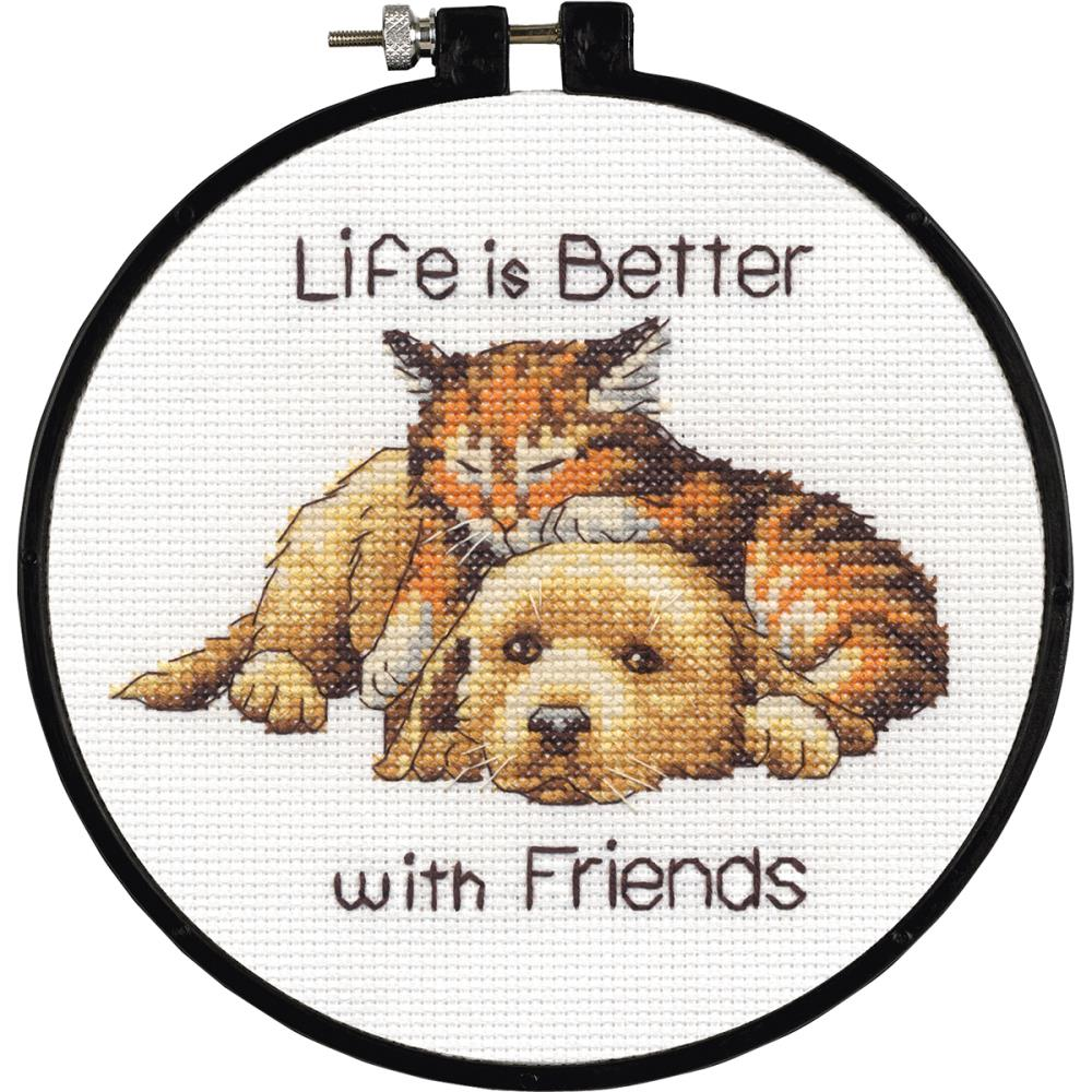 click here to view larger image of Better With Friends - Learn A Craft (counted cross stitch kit)