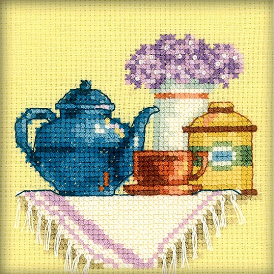 click here to view larger image of Cup Of Tea In The Morning, A (counted cross stitch kit)