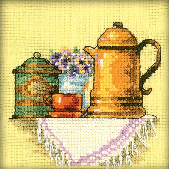 click here to view larger image of Cup Of Coffee In The Morning, A (counted cross stitch kit)