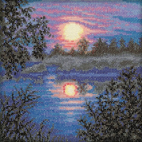 click here to view larger image of Evening (counted cross stitch kit)