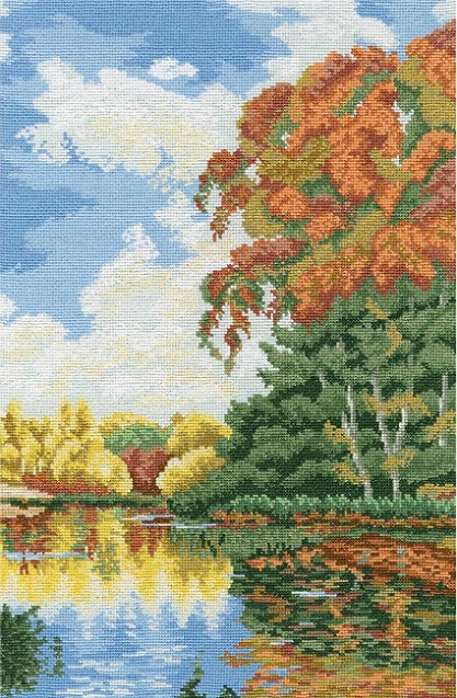 click here to view larger image of Autumn Coolness (counted cross stitch kit)