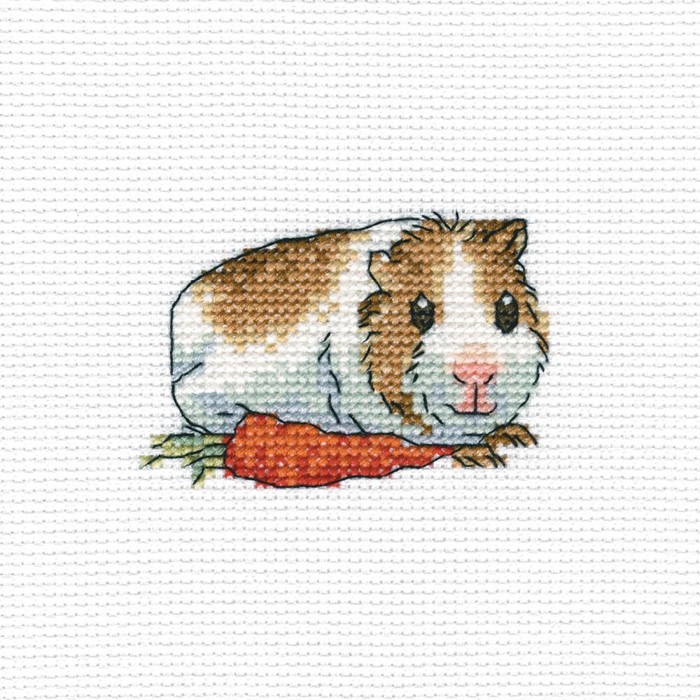 click here to view larger image of Cavy With Carrot (counted cross stitch kit)