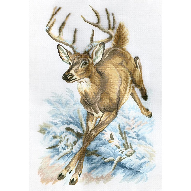 click here to view larger image of Forest Deer (counted cross stitch kit)