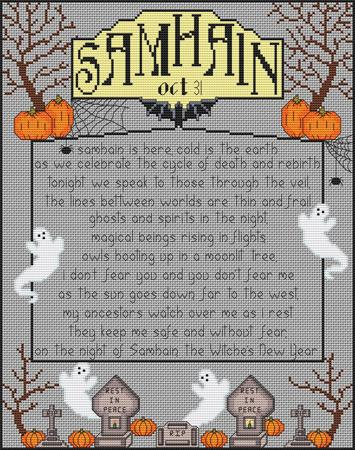 click here to view larger image of Samhain - Wheel of the Year series (chart)