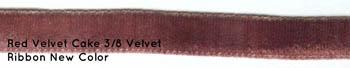 click here to view larger image of Red Velvet Cake 3/8in velvet ribbon (fiber)