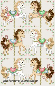 click here to view larger image of Carousel Horses (chart)