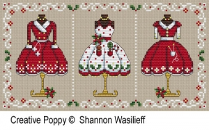 click here to view larger image of Mrs Clauses Merry Outfits (chart)