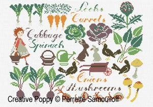 click here to view larger image of Autumn Vegetable Patch (chart)