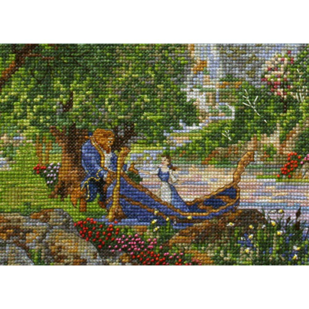 click here to view larger image of Beauty and The Beast 2 (close up) - Disney Dreams Collection (counted cross stitch kit)