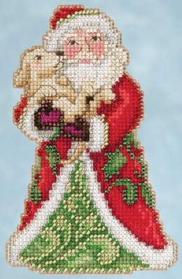 click here to view larger image of Best Friend Santa (counted cross stitch kit)