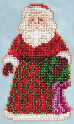 click here to view larger image of Greetings Santa (counted cross stitch kit)
