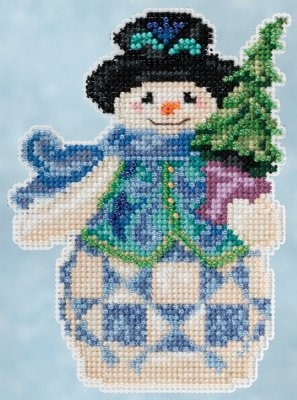 click here to view larger image of Evergreen Snowman (counted cross stitch kit)