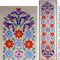 click here to view larger image of Floral Satin Banner (chart)