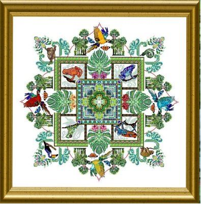 click here to view larger image of Rainforest Mandala (chart)