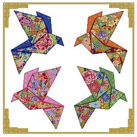 click here to view larger image of Origami Birds - 4 Seasons Design (chart)