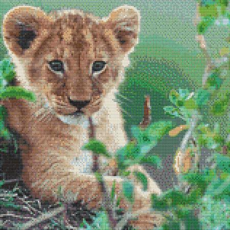 click here to view larger image of Lion Cub In Grass (chart)
