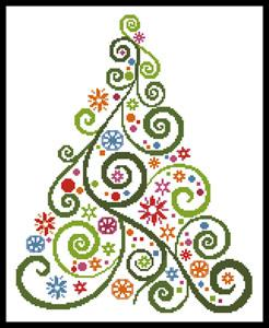 click here to view larger image of Abstract Christmas Tree (chart)