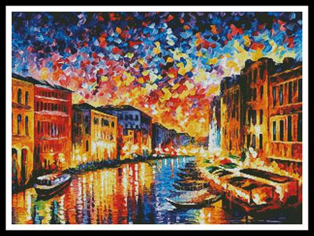 click here to view larger image of Venice Grand Canal - Regular size  (Leonid Afremov) (chart)