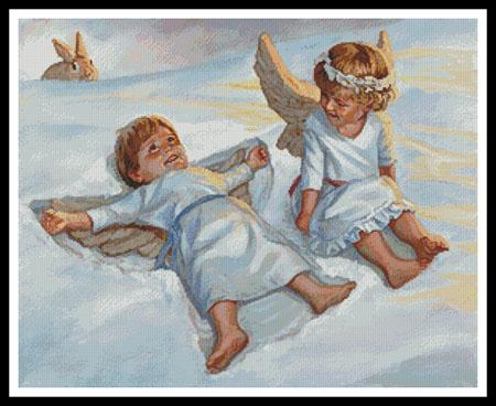 click here to view larger image of Cherubs Snow Angels  (David Lindsley) (chart)