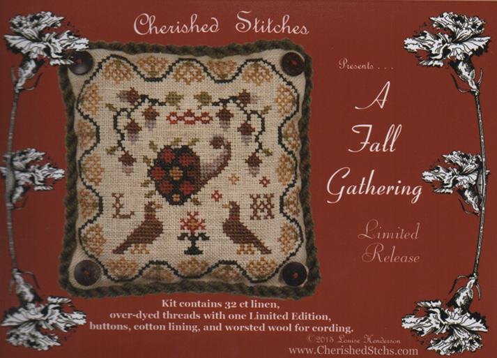 click here to view larger image of A Fall Gathering - Limited Edition Kit (counted cross stitch kit)
