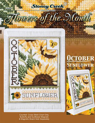 click here to view larger image of Flowers of the Month - October Sunflower (chart)