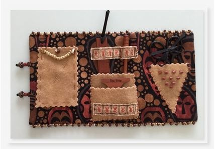 click here to view larger image of Mask Sewing Case, The (counted cross stitch kit)