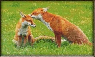 click here to view larger image of Cute Foxes (chart)