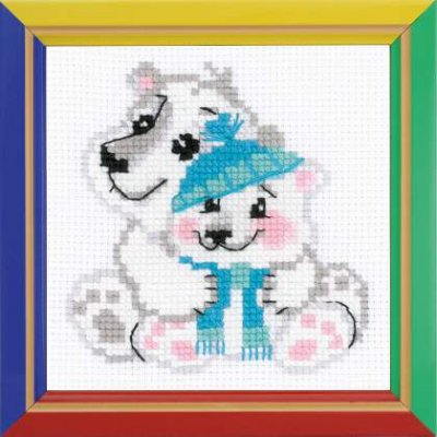 click here to view larger image of Younger Brother - Happy Bee (counted cross stitch kit)